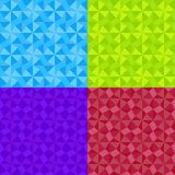 O teste padrão sem emenda do ornamento geométrico simples ajustou-se em 4 cores Ilustração do vetor do mosaico ilustração royalty free