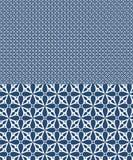 O teste padr?o sem emenda do vetor azul inspirado por azulejos projeta ilustração stock