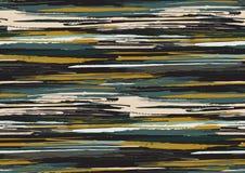 O teste padrão sem emenda do vetor com bordas ásperas tiradas mão textured os cursos e as listras da escova pintados à mão fotografia de stock royalty free