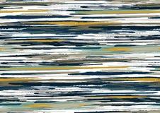 O teste padrão sem emenda do vetor com bordas ásperas tiradas mão textured os cursos e as listras da escova pintados à mão fotografia de stock