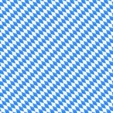 O teste padrão sem emenda do vetor de Oktoberfest com diamante diagonal dá forma Fundo azul e branco para a bandeira bávara do fe Imagens de Stock