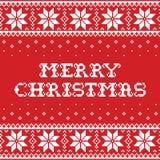 O teste padrão sem emenda do vetor do Natal ou do inverno, inspirado pela arte popular de Sami Lapland, bordado e bordado tradici Fotos de Stock