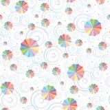 O teste padrão sem emenda dos guarda-chuvas Fotografia de Stock Royalty Free