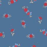 O teste padrão sem emenda floral, fundo com estilo do vintage floresce Fotos de Stock Royalty Free