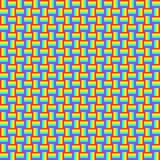 O teste padrão sem emenda geométrico com linhas transversais coloridos, cores do arco-íris trançou o ornamento, textura gráfica d ilustração royalty free