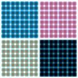 O teste padrão sem emenda lembrou a tela escocesa Um grupo do illustr quatro Imagens de Stock Royalty Free
