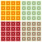 O teste padrão sem emenda lembrou a tela escocesa Um grupo do illustr quatro Imagem de Stock