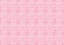 O teste padrão sem emenda na linha ícone do estilo com bebê brinca o vetor resizable inteiramente editável do tema na cor cor-de- imagens de stock royalty free