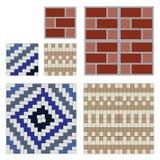 O teste padrão sem emenda telha a parede de tijolo Imagens de Stock Royalty Free