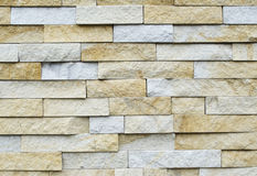 O teste padrão da parede de tijolo de pedra moderna branca surgiu Fotografia de Stock