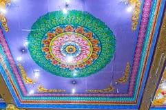O teto colorido do hindu Kovil de Matale Imagem de Stock Royalty Free