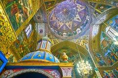 O teto da catedral de Vank, Isfahan, Irã Fotografia de Stock