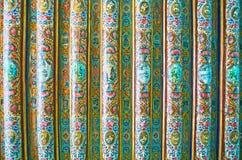 O teto da madeira na casa de Qavam, Shiraz, Irã Foto de Stock Royalty Free