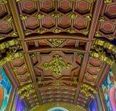 O teto de madeira Fotografia de Stock