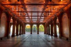 O teto iluminado da telha de Minton em Bethesda Terrace em C foto de stock royalty free