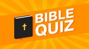 o texto colorido do questionário da Bíblia 3d no pop art irradia o fundo Vetor Foto de Stock