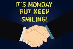 O texto da escrita que escreve lhe S segunda-feira mas mantém-se sorrir O significado do conceito tem um bom começo da motivação  ilustração do vetor