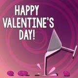 O texto da escrita que escreve o Valentim feliz S é dia Significado do conceito quando os amantes expressarem sua afeição com cum ilustração stock