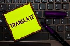 O texto da escrita traduz Conceito que significa uma outra palavra com o mesmo significado equivalente de um teclado do papel do  foto de stock royalty free
