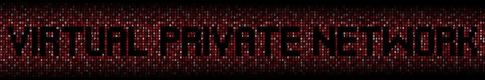 O texto da rede virtual privada encanta sobre a ilustração do código Imagem de Stock Royalty Free