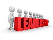 O texto do conceito da liderança com os povos 3d brancos team Imagem de Stock
