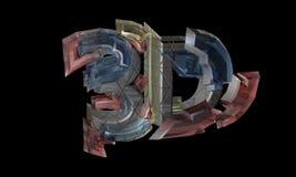 O texto eletrônico, conceito, 3d rende Fotografia de Stock Royalty Free