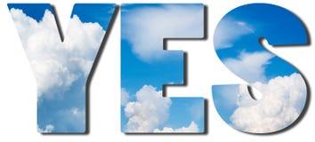 O texto encheu-se com o céu azul e as nuvens grandes foto de stock royalty free