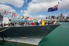 O 75th aniversário da marinha de Nova Zelândia Fotografia de Stock
