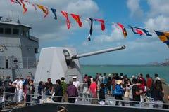 O 75th aniversário da marinha real de NZ Imagem de Stock
