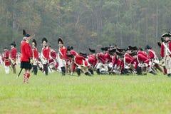 O 225th aniversário da vitória em Yorktown, um reenactment do cerco de Yorktown, onde commande do general George Washington Fotografia de Stock Royalty Free