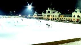 Pista de gelo em Budapest Foto de Stock Royalty Free