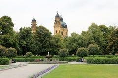 O Theatinerkirche em Munich Imagens de Stock Royalty Free
