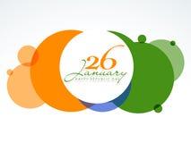O ticolor nacional circunda para a celebração indiana do dia da república Imagem de Stock