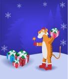 O tigre dos desenhos animados Imagens de Stock