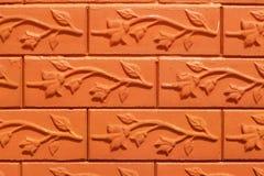 O tijolo com marrom listra o fundo Imagem de Stock