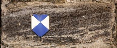O tijolo com uma proteção do monumento assina dentro Alemanha Fotos de Stock Royalty Free