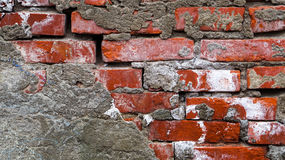 O tijolo rústico velho e o emplastro rachado texture o fundo fotos de stock