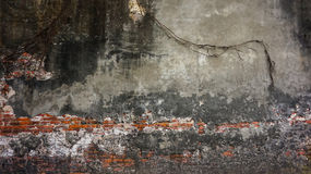 O tijolo rústico velho e o emplastro rachado texture o fundo foto de stock