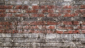O tijolo rústico velho e o emplastro rachado texture o fundo fotos de stock royalty free