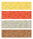 O tijolo textures a coleção Imagem de Stock