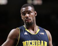 O #10 Tim Hardaway Jr de Michigan. Fotografia de Stock