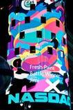 O Times Square comemora a liberação de Windows 8 Imagens de Stock