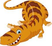 O tiranossauro dos desenhos animados encontra-se para baixo Fotos de Stock Royalty Free
