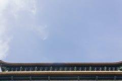O tiro horizontal da porta Qianmen de Zhengyangmen localizou fotografia de stock