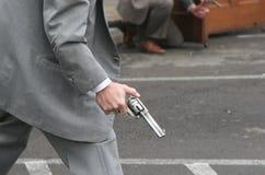 O tiroteio Imagens de Stock