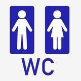 o toalete do homem e da senhora assina os símbolos fêmeas masculinos ilustração stock