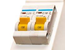 O toggle-switch elétrico imagem de stock