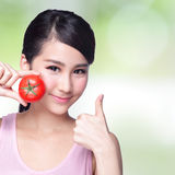 O tomate é grande para a saúde Foto de Stock Royalty Free