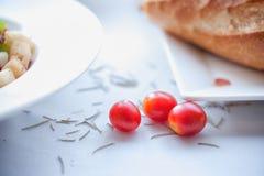 O tomate de três vermelhos Fotos de Stock Royalty Free