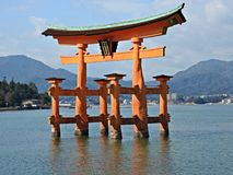 O-torii Gate at Miyajima Island, Hiroshima, Japan Stock Photo